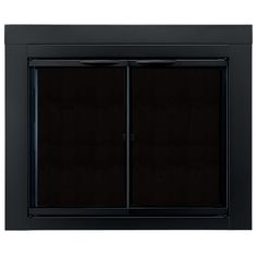pleasant hearth alpine black medium fireplace doors with clear tempered glass at loweu0027s the alpine collection fireplace glass door is a