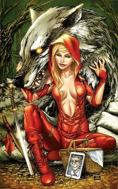 Red Riding Hood  More Red @ http://groups.google.com/group/FantasyMagie & http://groups.yahoo.com/group/fantasy_forum &  http://groups.google.com/group/Comics-Strips & http://groups.yahoo.com/group/ComicsStrips &  http://www.facebook.com/ComicsFantasy & http://www.facebook.com/groups/ArtandStuff &  http://nl.pinterest.com/ingestorm/fairytale-red-riding-hood-sac/