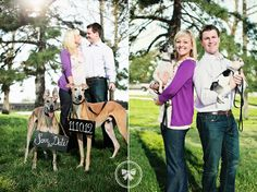 Save the Date with dogs! #engagement