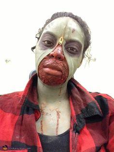 Zipper Face Zombie - Halloween Costume Contest via @costumeworks