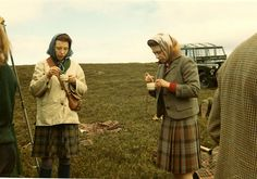 Queen Elizabeth having a tea break grouse hunting
