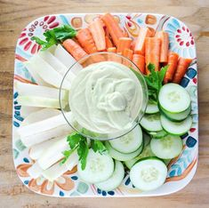 Slender Spicy Vegetable Dip with Avocado and Sriracha