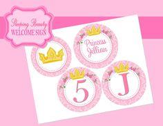 Sleeping Beauty 4 inch Circles / Disney Princess by KROWNKREATIONS, $3.99