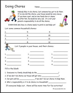 Printables Independent Living Skills Worksheets google search and worksheets on pinterest life skills worksheet the importance of doing chores students will list a variety of