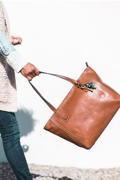 Swinging into the holiday season with the Emma leather tote. via @ grasiemercedes
