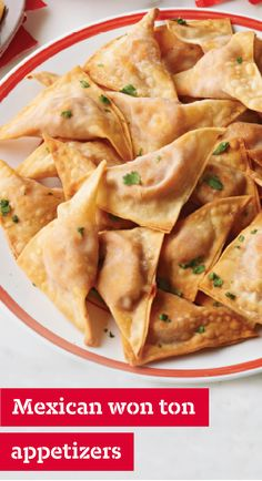 Mexican Won Ton Appetizers – This delicious appetizer recipe is stuffed with Italian sausage, jalapeño cheese, and salsa to bring bold flavor to your party menu. This dish is perfect for your Game Day spread.