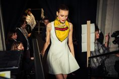Backstage at our AW14 London Fashion Week show, Counter Culture