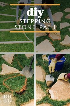 Transform your garden or backyard into a scene from a fairy tale with a stone path. This can be done in one afternoon! Transform your garden or backyard into a scene from a fairy tale with a stone path. This can be done in one afternoon! Stepping Stone Paths, Stone Walkway, Flagstone Path, Garden Stones, Garden Paths, Big Leaf Plants, Earthy Home Decor, Path Ideas, Décor Ideas