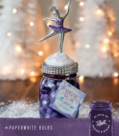 A great gift for the young and the young at heart from Hostess with the Mostess - these Sugar Plum Fairy jars are sure to please! #MadeFromHere