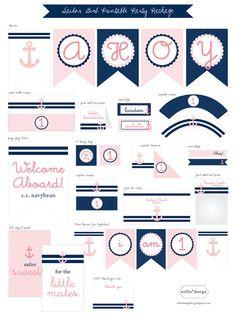 Sailor Girl Nautical Theme  Printable Decor por nelliev2 en Etsy, $30.00