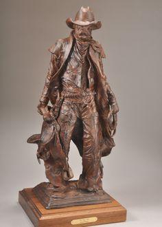 Working Man bronze sculpture artist, Michael Hamby featured at Spirits in the Wind Gallery www.spiritsinthewindgallery.com