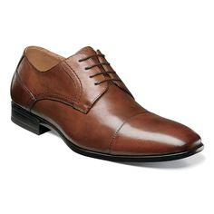 Florsheim Men's Burbank Cap Cognac Oxford Shoes