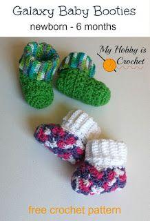 My Hobby Is Crochet: Galaxy Baby Booties - Free Crochet Pattern (Newborn - 6 Months)