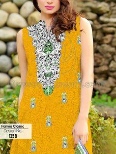 Buy Printed Cotton Lawn Salwar Kameez by Harma Classic Lawn Vol. 4, 2015.