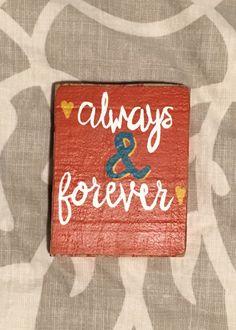 Always & Forever Block Painting by MyGoldenAarow on Etsy