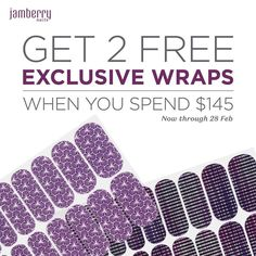 ooohhhh I'm all the heart eyes for this latest promotion!  You can get these two STUNNING #exclusive wraps for #FREE when you place an order for $145 between now and 28th Feb!! Visit naomio.jamberry.com or contact me today to get yours!