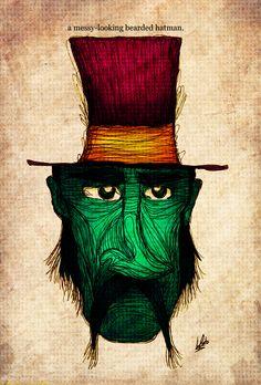 Luis Pinto :: A messy-looking bearded hatman