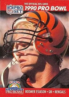 Boomer+Esiason+Cincinnati+Bengals | Boomer Esiason Football Card (Cincinnati Bengals) 1990 Pro Set #341