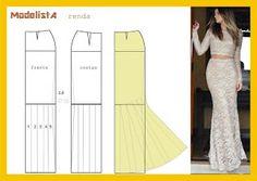 contra la crisis yo elijo...COSER: Patrón falda para vestido de fiesta