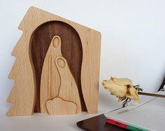 Legno asilo nido NATURALE presepe Natività di LovingWoodCom
