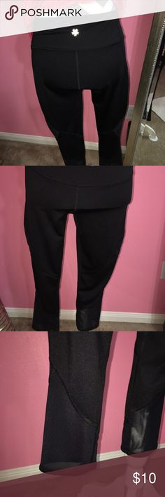 Women's Tek Gear Black/Mesh Work Out Capris NWOT Sexy mesh accent detailing around calf area on the bottom of these black Capri length tights/leggings 92%polyester 8%Spandex love the quality- these are not sheer so no peek-a-boo underwear when bent over during yoga moves which is perfection IMO🙌🔥‼️Size Medium, found them at Kohl's on sale & I have way too many just like this so although it's tough I must let these beauties get put to use, my loss is your gain👑💕🛍‼️ tek gear Pants Ankle…