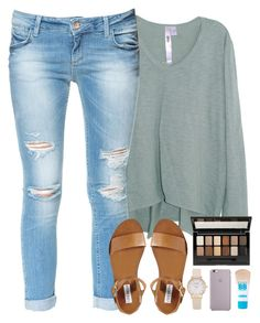 """""""baby all i want is you ❤️"""" by shannaolo ❤ liked on Polyvore featuring moda, Wilt, Zara, Steve Madden e Maybelline"""