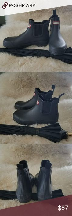 Hunter Ankle Black Rain Boots Size 7.5 Hunter Ankle Black Rain Boots Size 7.5 Excellent condition Hunter Shoes Winter & Rain Boots