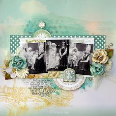 Let it Go - August 2014 Limited Edition kit from My Creative Scrapbook kit club Websters Pages - Strawberry Fields Collection