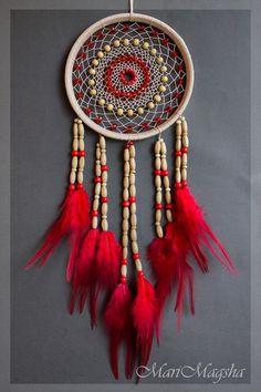 "Hunters artesanais sonhos.  Dream Catcher ""Glass"".  MariMagsha (Maria).  Online Store Feira Masters.  Dreamcatcher"