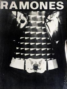 Ramones early poster by Arturo Vega, ca 1976 via Pretty Vacant: The graphics language of Punk