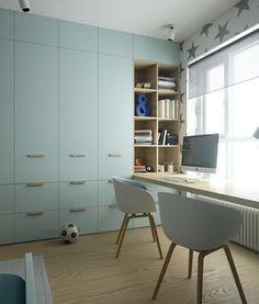 38 Trendy Bedroom Desk Wardrobe Home Office Bedroom Desk, Bedroom Wardrobe, Kids Bedroom, Kids Room Design, Home Office Design, Library Design, Teenage Room, Home Office Lighting, Wardrobe Design