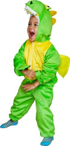 Fun Play Fancy Dress Dinosaur Onesies Animal Costume Green 3-5 Years Size M >>> You can get more details by clicking on the image.