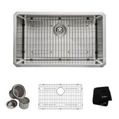 KRAUS All-in-One Undermount Stainless Steel 30 in. Single Bowl Kitchen Sink KHU100-30 at The Home Depot - Mobile $299
