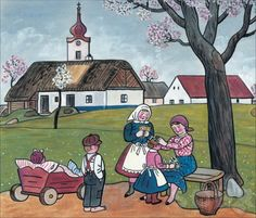 Josef Lada One Thousand, Believe In God, The Kingdom Of God, Naive, Illustrators, Folk Art, Comics, Retro, Cute