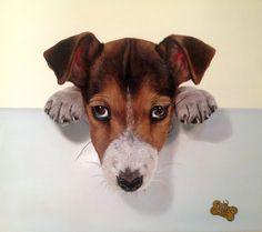 """Jack Russell"" Catherine Gorbenko, canvas / oil. The artist from Sevastopol, Ukraine."
