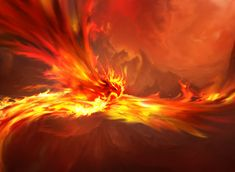 "Firewing Phoenix from the Magic 2013 deck. ""When a Phoenix nests in a volcano, we rejoice, for it means a hundred years of war. Phoenix Images, Phoenix Art, Phoenix Force, Fantasy Creatures, Mythical Creatures, Mythical Birds, Fantasy World, Fantasy Art, Fantasy Life"