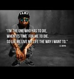 I love this quote but this is what Jimmie Hendricks said and some dumb ass quoted it by lil wayne