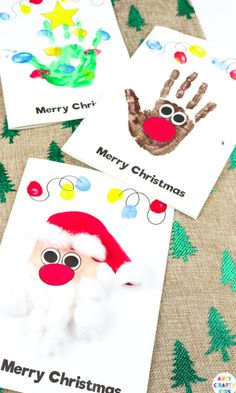 Christmas Arts And Crafts, Preschool Christmas, Christmas Diy, Christmas Cards Handmade Kids, Christmas Handprint Crafts, Childrens Christmas Card Ideas, Christmas Card Making, Christmas Card Photo Ideas With Dog, Christmas Crafts For Kids To Make Toddlers
