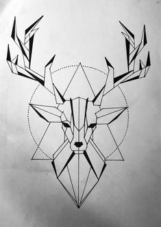 Pencil Art Drawings, Cool Art Drawings, Art Drawings Sketches, Easy Drawings, Animal Drawings, Geometric Drawing, Geometric Art, Geometric Origami, Origami Owl