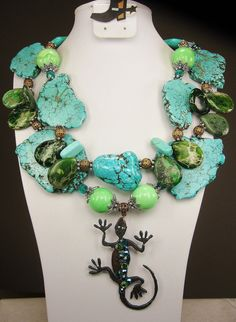"""""""Desert Queen"""" Blue / Green Western Chunky Cowgirl by www.CayaCowgirlCreations.etsy.com - $55.00"""