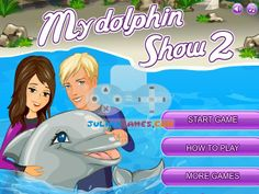 My Dolphin Show 2:  Jump through the hoops, my darling dolphins! How to play My Dolphin Show 2: Arrows = Move Follow the trainer's instructions to entertain the crowd with your tricks.  http://www.freeonlinegamestore.com/my-dolphin-show-2/