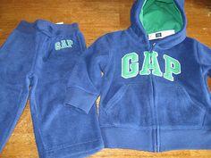 A Gap Baby Boys Fleece Outfit Sweatpants Zip Hoodie 12 18 Months Blue Green New   eBay