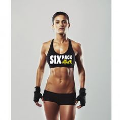 """Ladies """"SIX PACK ATTACK"""" Sports Bra - BodyBags Authentic Gear"""