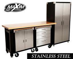 MAXIM GARAGE STORAGE SYSTEM WORKBENCH CABINET  TOOLBOX  SHED WORKSHOP CUPBOARD