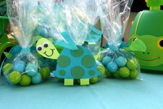 Blue and green treats at a Turtle Party! Turtle Birthday Parties, Trains Birthday Party, Turtle Party, Birthday Party Themes, Birthday Brunch, Birthday Bash, Birthday Ideas, Boy First Birthday, Frozen Birthday