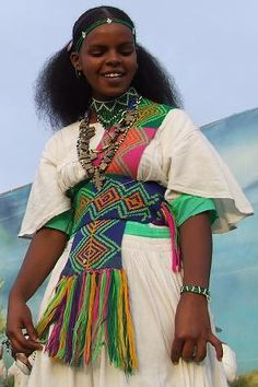 A Tigray girl dancing at a festival in Asmara, Eritrea, (Credit: asmera. African Life, African Culture, African Women, We Are The World, People Of The World, Eritrean, Tribal People, African Inspired Fashion, Cultural Diversity