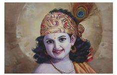 Buy Modern and Contemporary Indian Art Paintings Online Krishna Leela, Radha Krishna Pictures, Radha Krishna Love, Krishna Radha, Radha Rani, Durga, Little Krishna, Cute Krishna, Krishna Tattoo