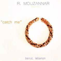 #bracelet #black#pink #gold #catch#me#cuff#mouzannar #jewelry #beirut