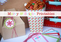 Tons of printable tags and labels for Xmas