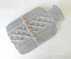 Dove Grey hot water bottle cover / sweater  by ACrookedSixpence, £29.00